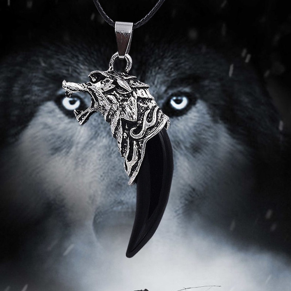 wolftoothpendant, mens necklaces, Jewelry, fang