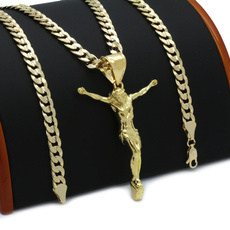 goldplated, Chain Necklace, 18k gold, Christian