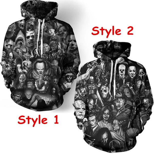 Couple Hoodies, 3D hoodies, halloween hoody, Plus Size