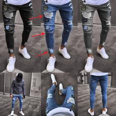 Hip-hop Style, men's jeans, Fashion, Casual pants