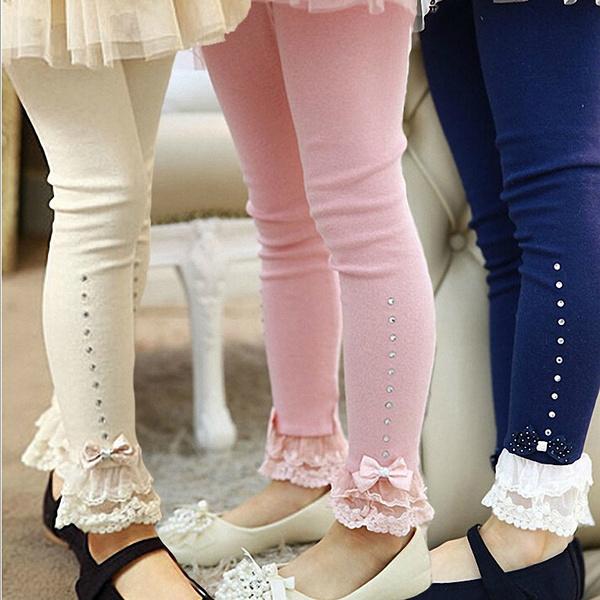 Fashion, ruffle, Lace, pants