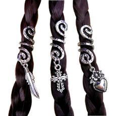 viking, spiral, hair, Charm