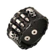 punk style, piratesofthecaribbean, skull, leather