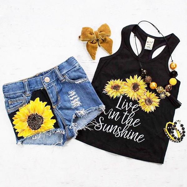 sunflowertshirt, Summer, Toddler, pants