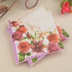 tablemat, Flowers, handkerchief, napkin