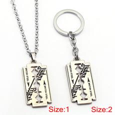 Razor, Chain Necklace, Key Chain, Jewelry