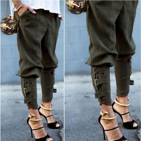 armygreen, harem, trousers, Casual pants