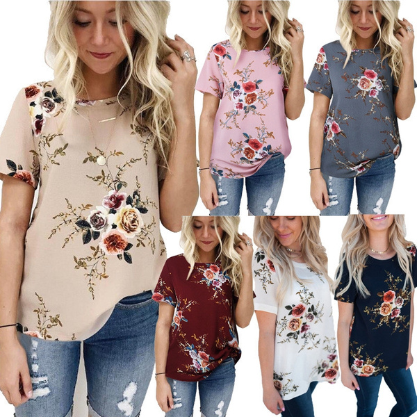 Summer, summer t-shirts, Women Blouse, Simple