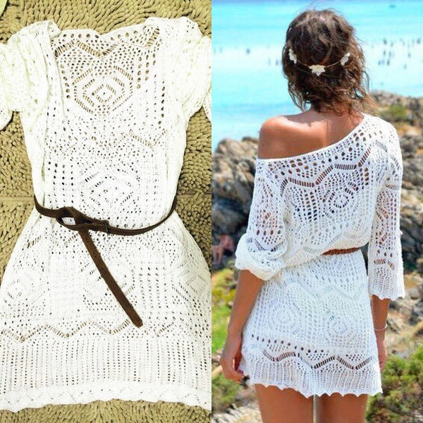 Summer, lacehollow, Lace, beach coverup