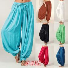 Women Pants, harem, elastic waist, Yoga
