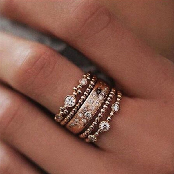 18 k, crystal ring, ringsleeve, Jewelry