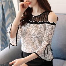 blouse women, ruffle, Shirt, chiffon