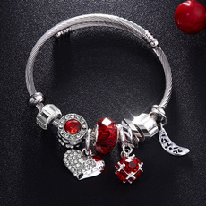 Charm Bracelet, Crystal Bracelet, Fashion, Love