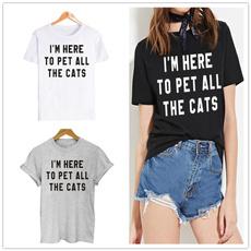 Shorts, Sleeve, graphic tee, catloversshirt