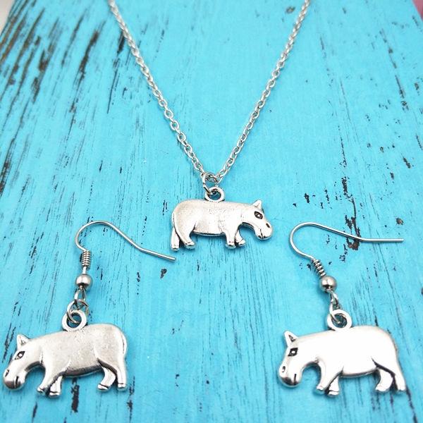 hippopotamusnecklace, Jewelry, Creative Jewelry Sets, hippopotamu