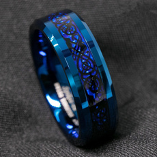 Couple Rings, Blues, tungstenring, 8MM