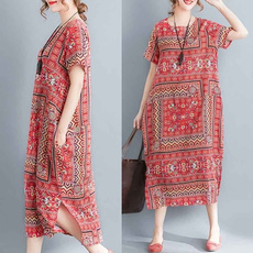 dressesforwomen, Floral print, Necks, Sleeve