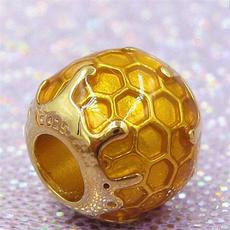 Charm Bracelet, 925sterlingsilverjewelry, Silver Jewelry, golden