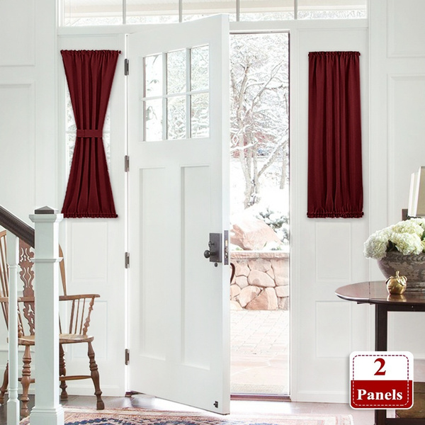 2 Panels Fashion French Door Curtains Privacy Enhancing Blackout Patio Door Panels With Adjustable Velcro For Home Kitchen Glass Door Wish