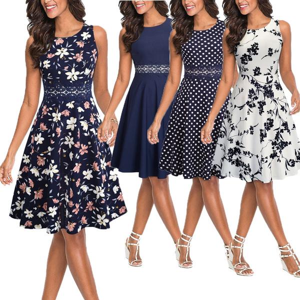 Swing dress, fashion women, tunic, 50s style dresses