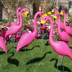 Plastic, flamingo, Garden, Rose