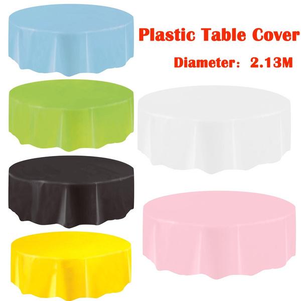 party, plasticcirculartablecloth, Cover, Plastic