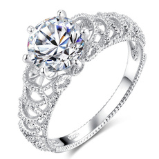 Beautiful, Sterling, Fashion, wedding ring