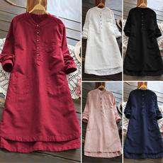 Fashion, plaincolor, shirtdresse, candy color