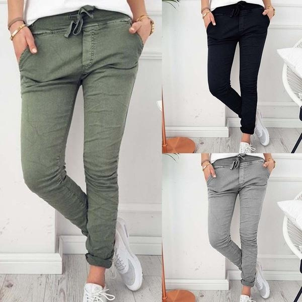 summertrouser, Polyester, elastic waist, casualtrouser