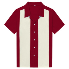 contrastingcolor, Fashion, Cotton Mens Shirts, plus-size clothing