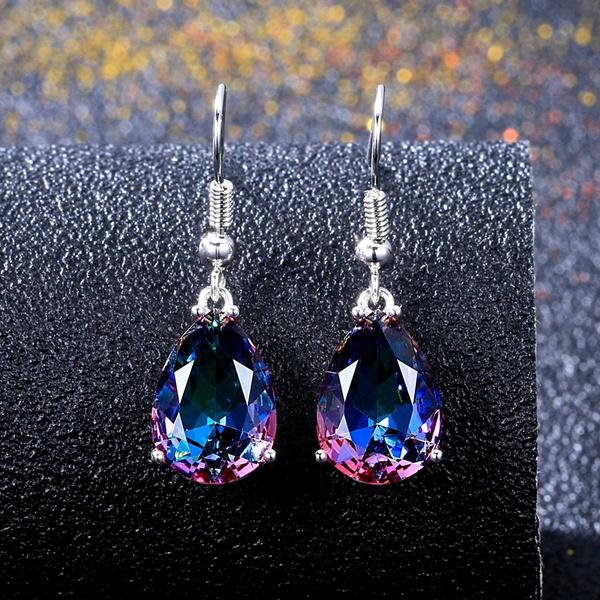 Sterling, rainbow, Gemstone Earrings, Gifts