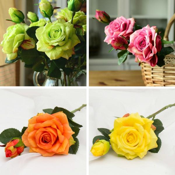 Home & Kitchen, Decor, Flowers, fakeroseflower