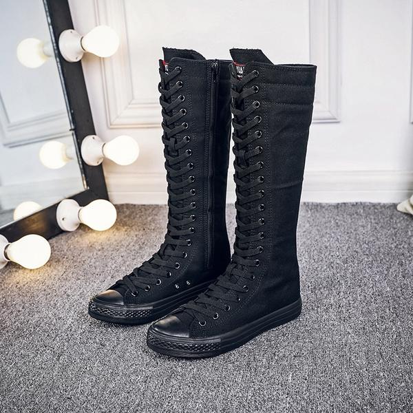 Boots Women Punk EMO Knee