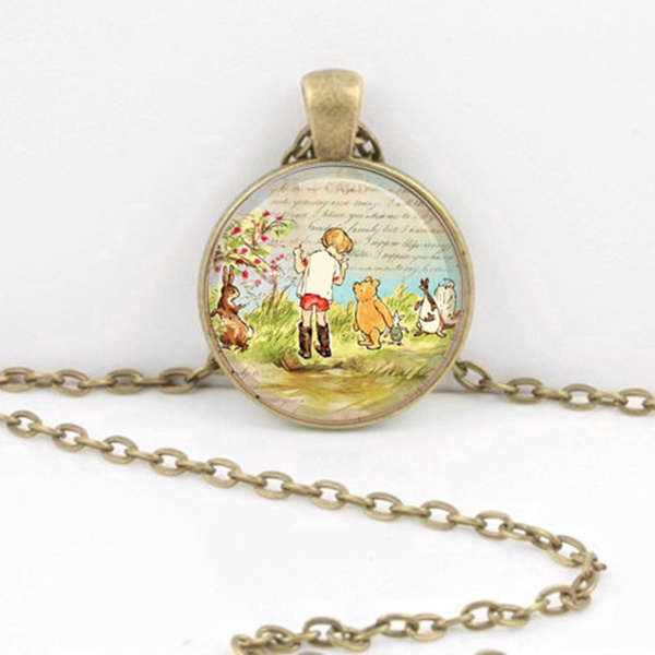 winniethepoohnecklace, circlependant, Jewelry, Classics