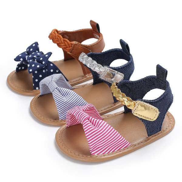 casual shoes, bowknot, Baby Girl, Sandals