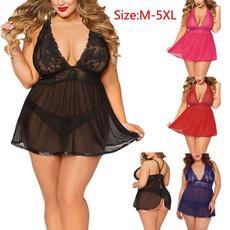 Sleepwear, Plus Size, Lace, women underwear