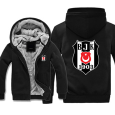 Fleece, Fashion, Zip, besiktasfootballclub