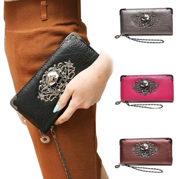 skull, handbags purse, cashpurse, leather