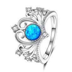 Sterling, Crystal, crystal ring, Jewellery
