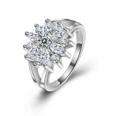 Sterling, Crystal, crystal ring, wedding ring