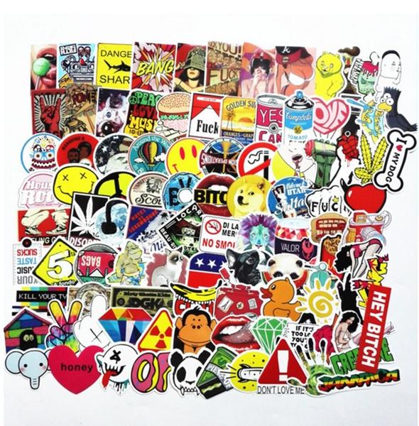 Car Sticker, suitcasesticker, Home Decor, stickerbombpack