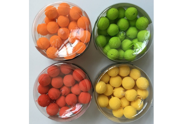 30 Stück Pop Up Boilies Gummiköder Leichte Runde Floating Fishing Beads