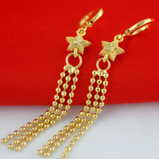 yellow gold, Tassels, beadfringe, Star