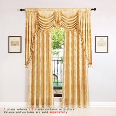 bedroomcurtain, golden, jacquard, Luxury