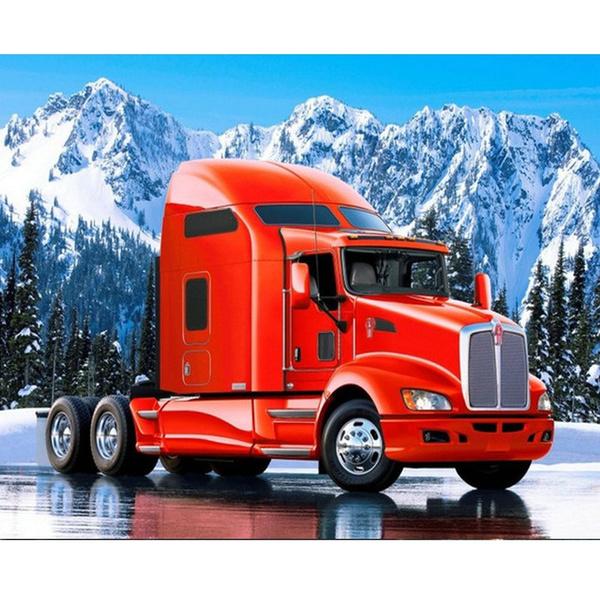 Full diamond embroidery 5d diamond painting red truck kits cross stitch crafts