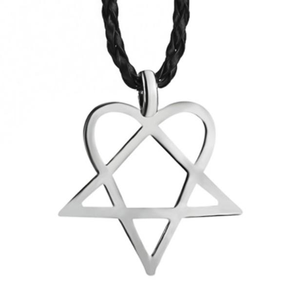 Pendant, Heart, Men  Necklace, punk necklace