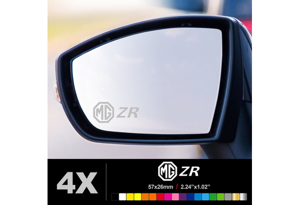 compatible MG ZR Wing Mirror Glass Silver Frosted Etched Car Vinyl Decal Sticker