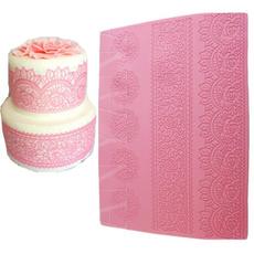 pink, Baking, beautifulintricatefondantimpressionlace, floral lace