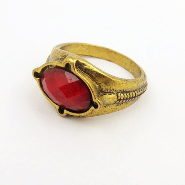 Stainless Steel GANDALF RING The Lord of the Rings LOTR Narya Fire Red size 9-13