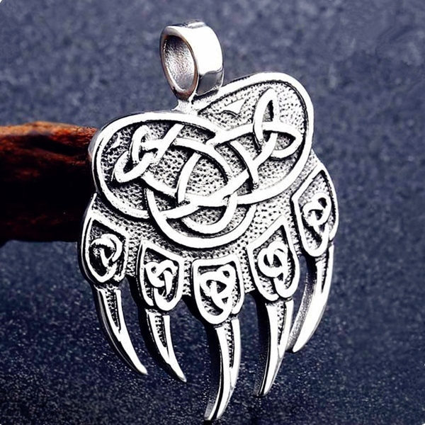 Ring For Men Viking Bear Amulet Celt Stainless Steel Jewelry Punk Rock Gothic